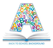 Back to SCHOOL template. Royalty Free Stock Photos