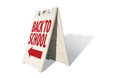 Back to School - Tent Sign Royalty Free Stock Photography