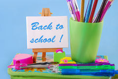 Back to  school with text Stock Images