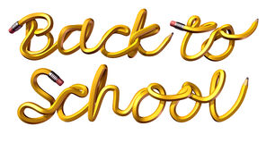 Back To School Text Royalty Free Stock Photo