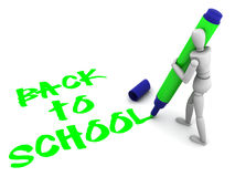 Back to school text Royalty Free Stock Images
