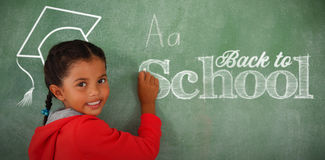 Composite image of back to school text against white background Stock Images