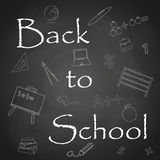 Back to School text on black chalkboard background eps10 Royalty Free Stock Photo