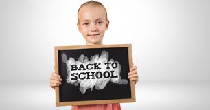 Back to school text on blackboard. Digital composite of Back to school text on blackboard Stock Image