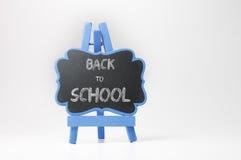 Back to School Text on Blackboard Stock Photo