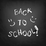 Back to school text on blackboard. Stock Photos