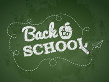 Back to school text on chalkboard Royalty Free Stock Photography