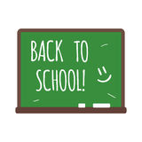Back to school text on chalkboard vector illustration. Stock Images