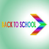 Back to school text with colored pencils Royalty Free Stock Photo
