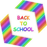 Back to school text with colored pencils Royalty Free Stock Image