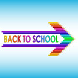 Back to school text with colored pencils Royalty Free Stock Photos