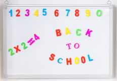 Back to school text Stock Photography
