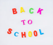 Back to school text Royalty Free Stock Image