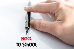 Back to school text concept Royalty Free Stock Photography
