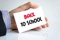 Back to school text concept Stock Photo