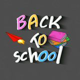 Back to School text design with books. royalty free illustration