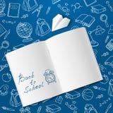 Back to school text end school vector doodle Stock Photos
