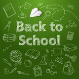 Back to school text end school vector doodle Royalty Free Stock Photo