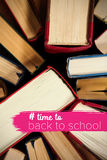 Composite image of back to school text with hashtag Royalty Free Stock Photos