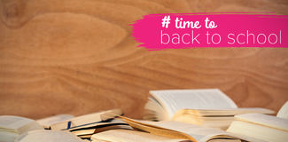 Composite image of back to school text with hashtag Stock Image