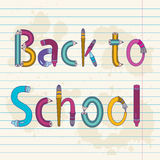 Back to school text with letters Stock Photo