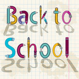 Back to school text with letters Stock Image
