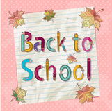 Back to school text with letters made of pencils a Stock Images