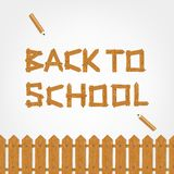 Back to school! Text made from wooden boards for Stock Photography