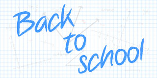 Back To School Text With Mathematical Geometry Bac Royalty Free Stock Photography
