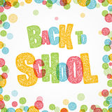 Back to School text and multicolored background Royalty Free Stock Photography