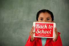 Composite image of back to school text over white background Stock Photo