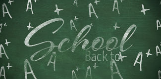 Composite image of back to school text over white background Royalty Free Stock Photo