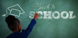 Composite image of back to school text over white background Royalty Free Stock Photos