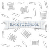 Back to School Text on realistic Label Stock Photography