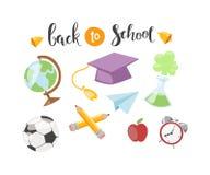 Back to school text vector Stock Photos