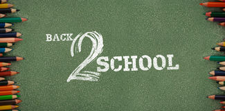 Composite image of back to school text on white background Stock Photography