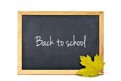 Back to school text written on blackboard Stock Image