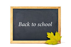 Back to school text written on blackboard Royalty Free Stock Image