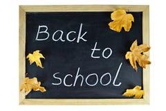 Back to school text written on blackboard Stock Photography