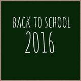 Back To School 2016 Text Written on chalkboard. Back To School 2016 Text Written Royalty Free Stock Photos