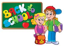 Back to school thematic image 4 Stock Image