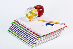 Back to school theme. With various school related tools Royalty Free Stock Images