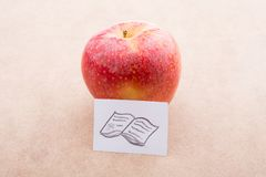 Back to school theme with an apple Royalty Free Stock Photo