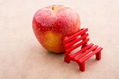 Back to school theme with an apple. Back to school theme with a red apple Stock Photography