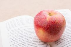 Back to school theme with an apple Stock Photo