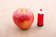 Back to school theme with an apple. Back to school theme with a red apple Stock Image