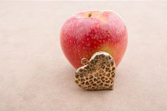 Back to school theme with an apple. Back to school theme with a red apple Royalty Free Stock Image