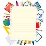Back to school theme background Stock Photos