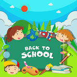 Back to school theme with children Royalty Free Stock Photos