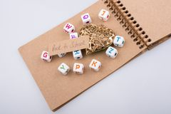 Back to school theme with letter cubes. Back to school theme with colorful letter cubes Stock Images